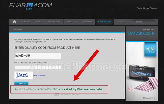 Проверка PharmaCom Labs по кодам